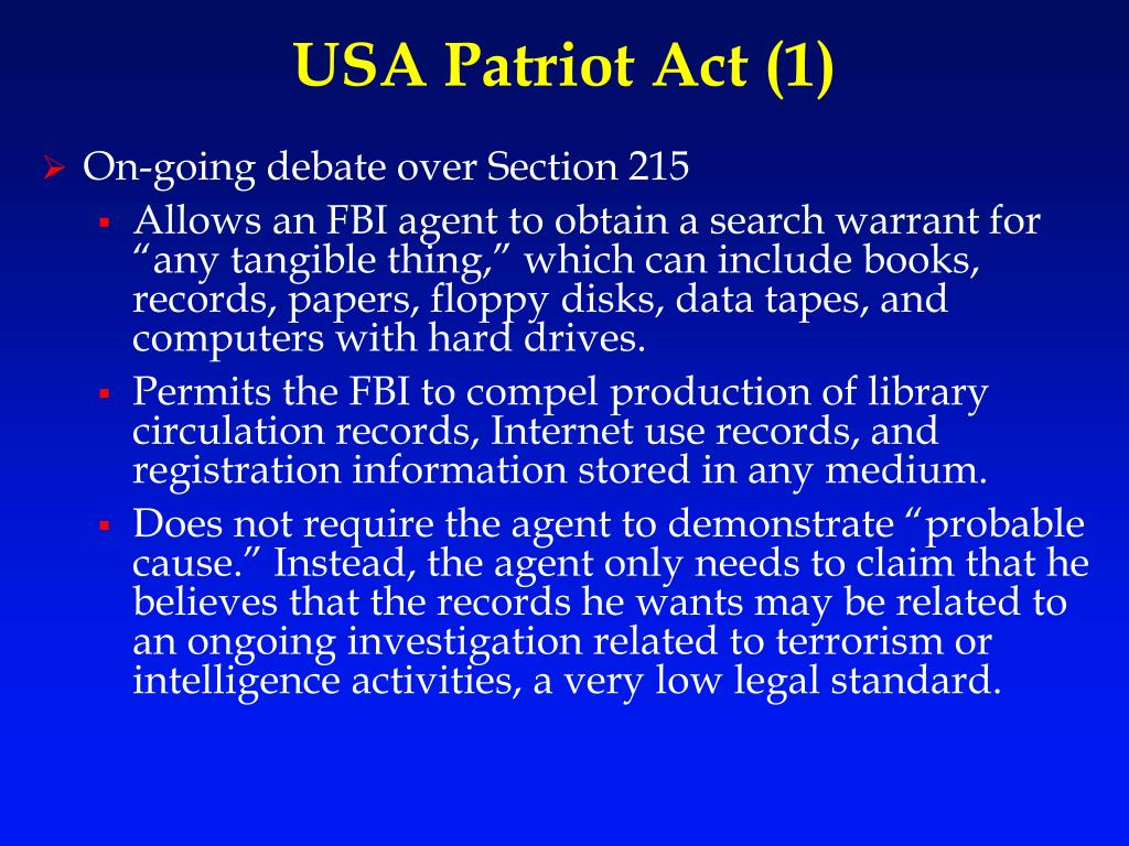 USA Patriot Act (1)