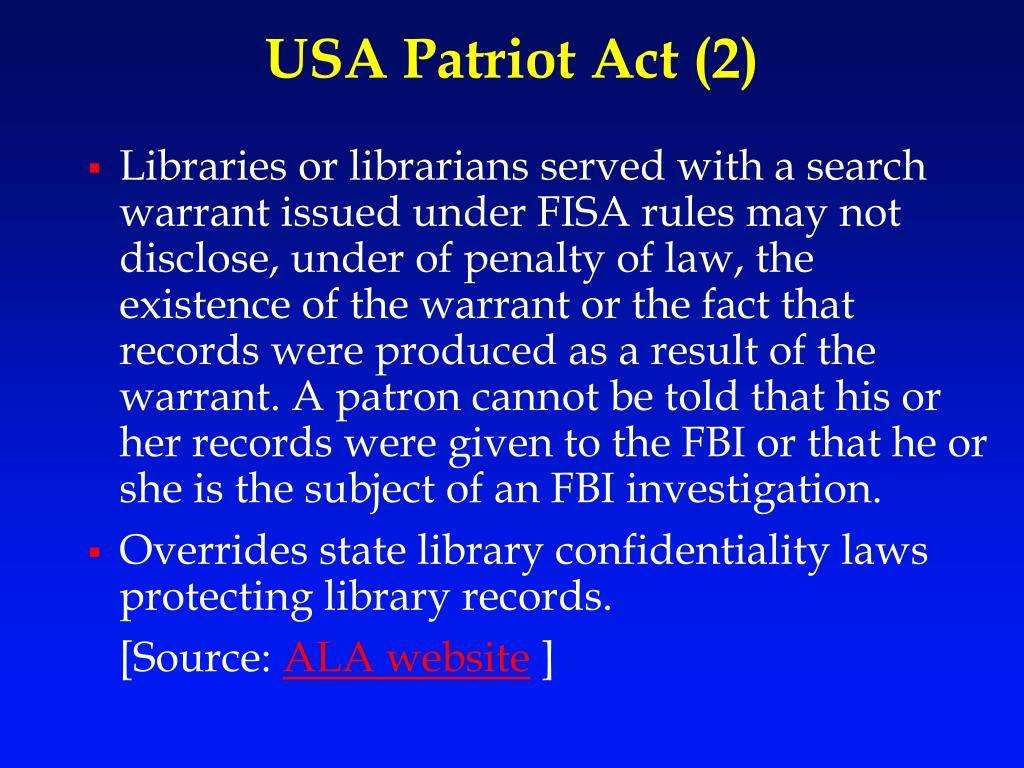 USA Patriot Act (2)