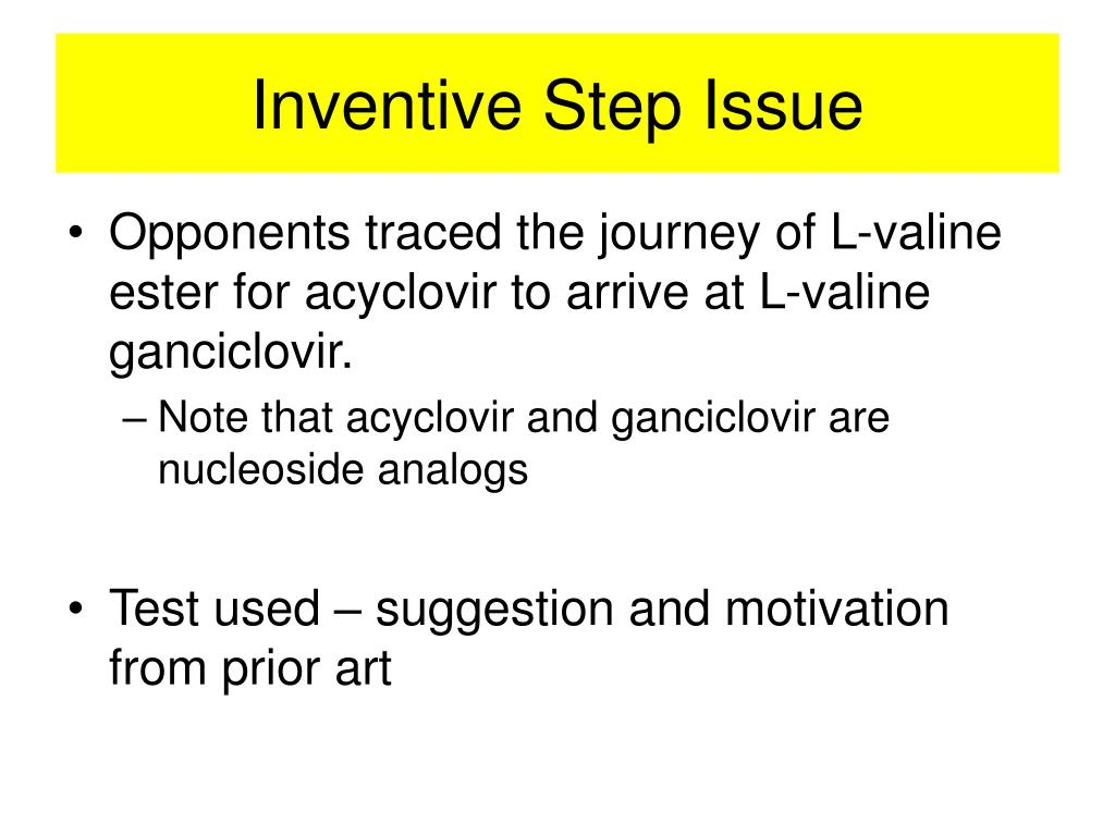 Inventive Step Issue