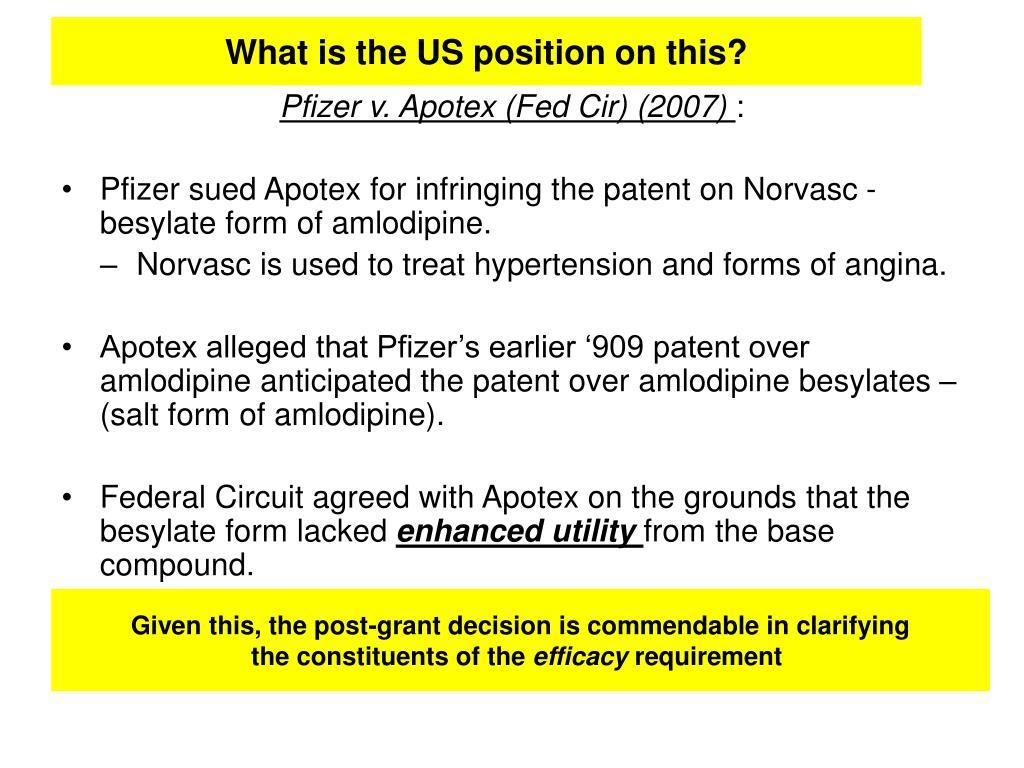 Pfizer v. Apotex (Fed Cir) (2007)