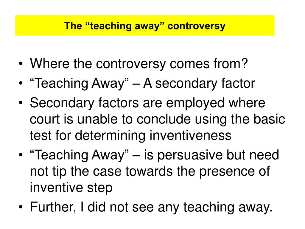 """The """"teaching away"""" controversy"""