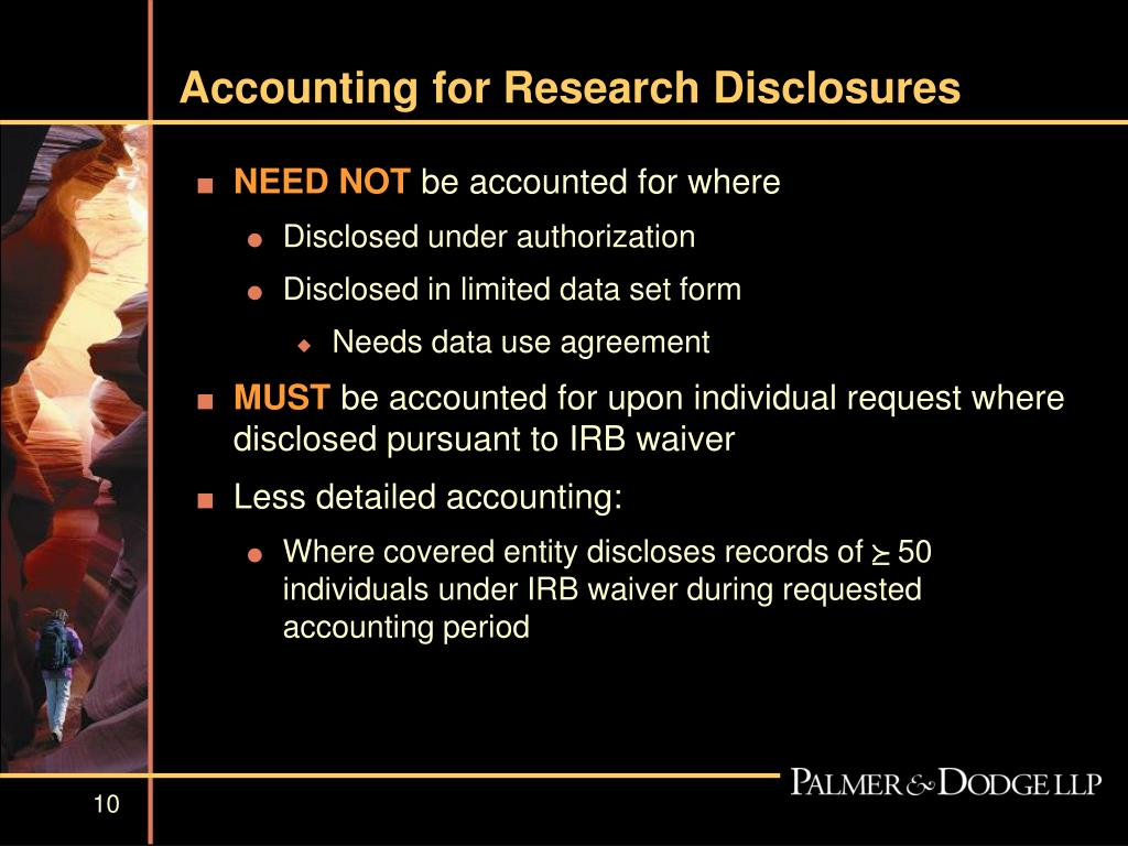 Accounting for Research Disclosures
