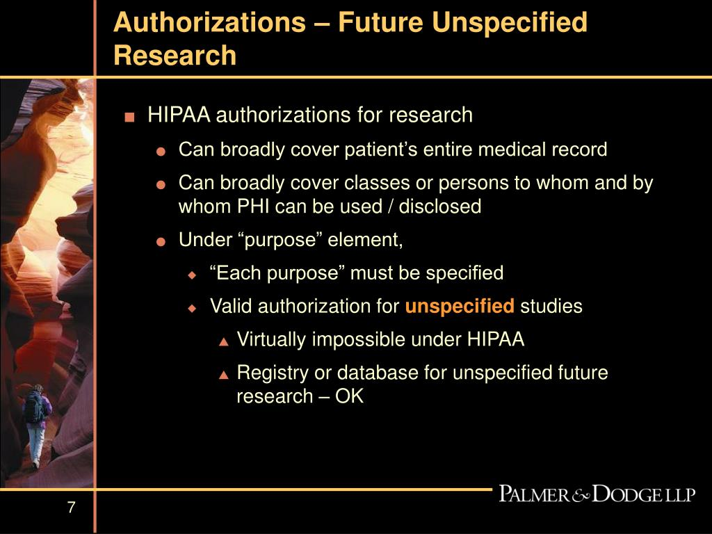 Authorizations – Future Unspecified Research