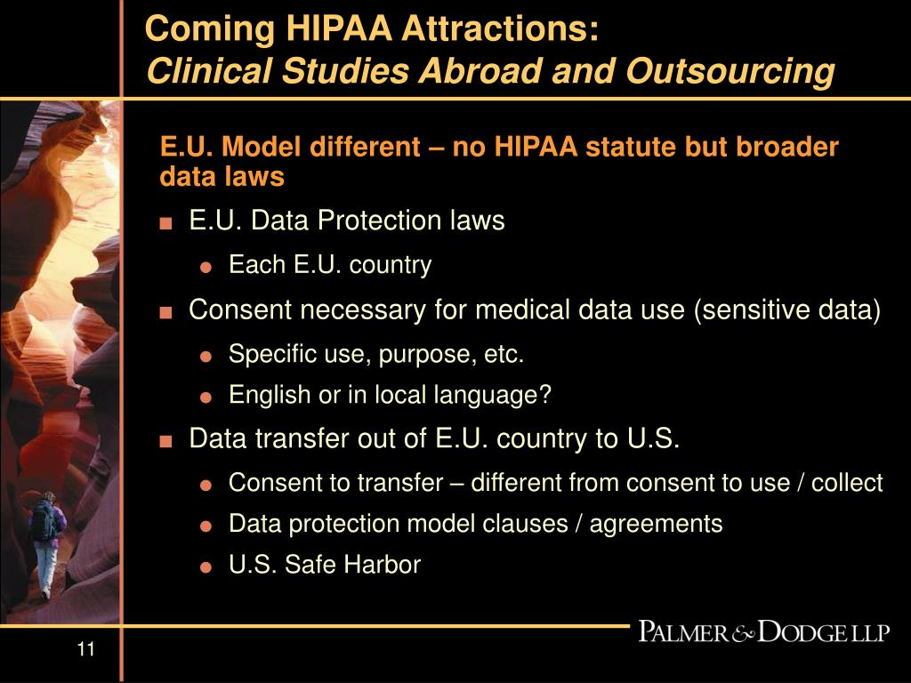 Coming HIPAA Attractions: