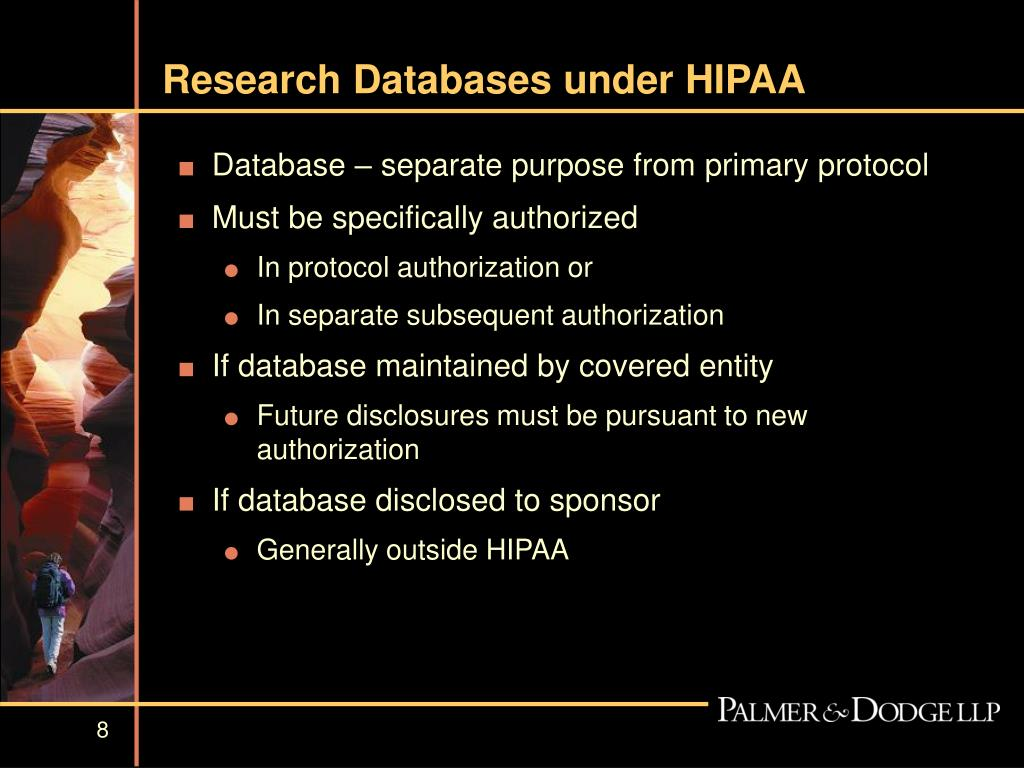 Research Databases under HIPAA