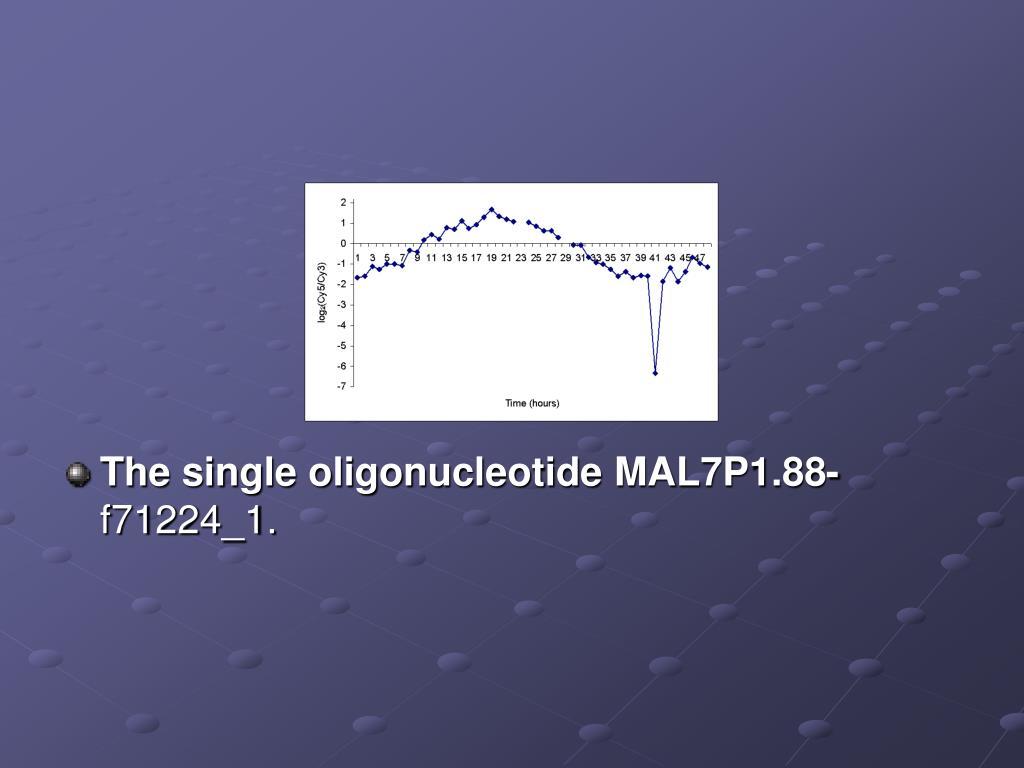 The single oligonucleotide MAL7P1.88-