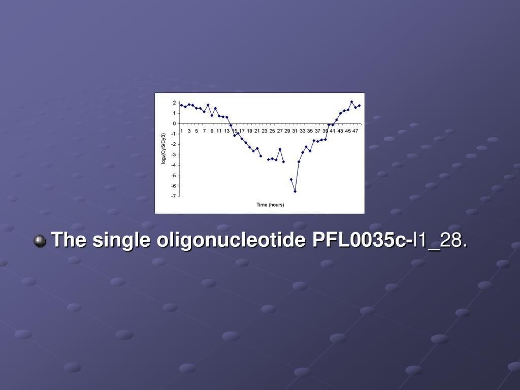 The single oligonucleotide PFL0035c-