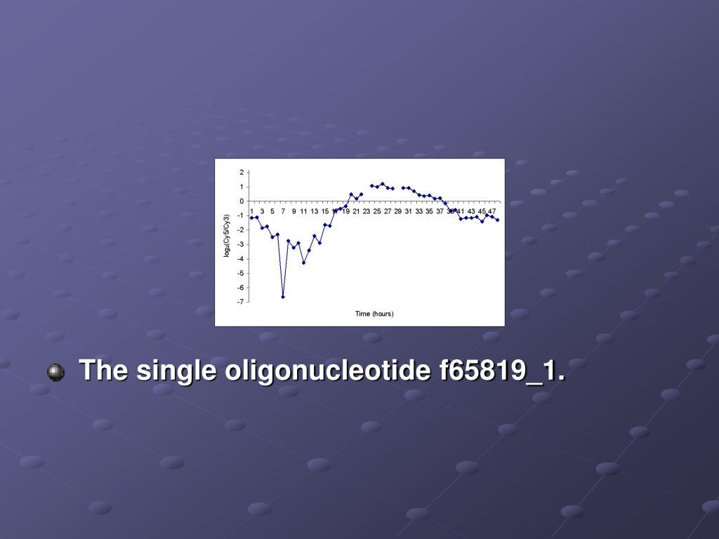 The single oligonucleotide f65819_1.
