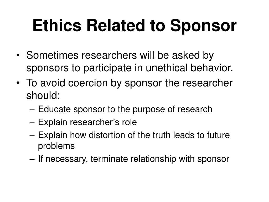 Bus 642 ethics in business research