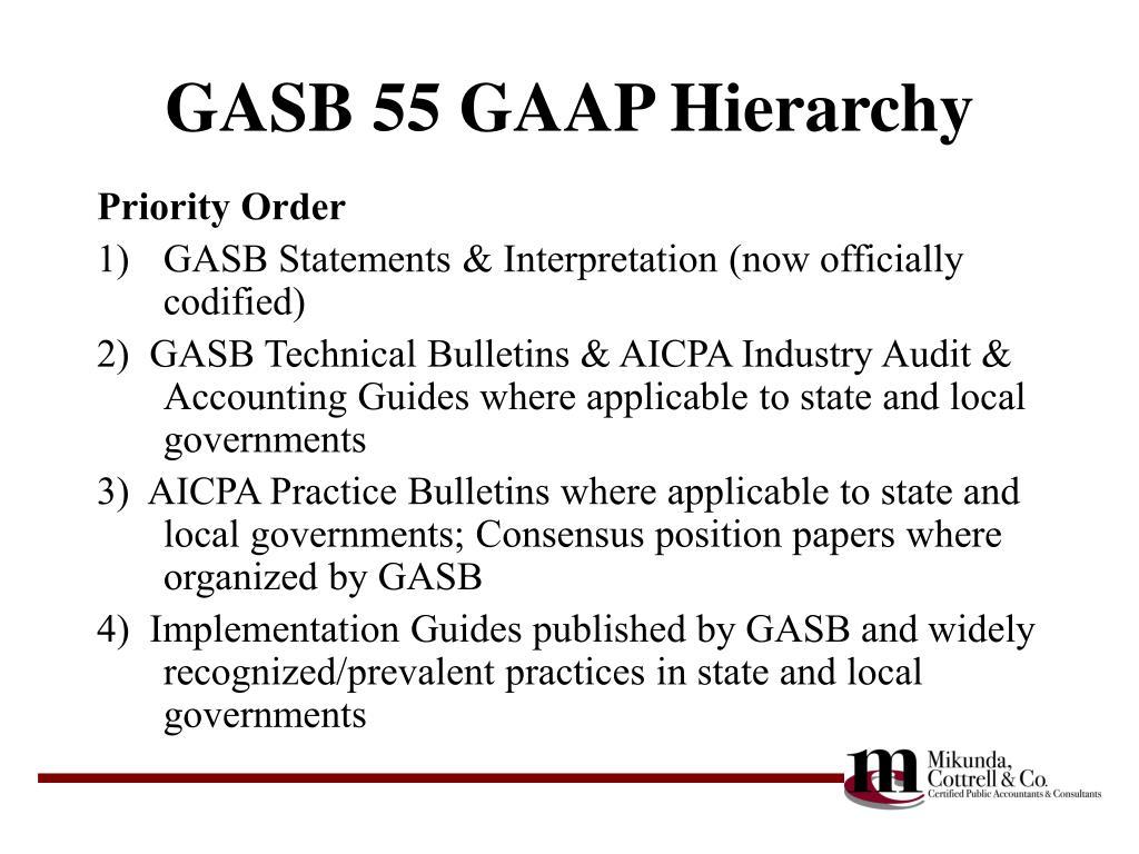GASB 55 GAAP Hierarchy