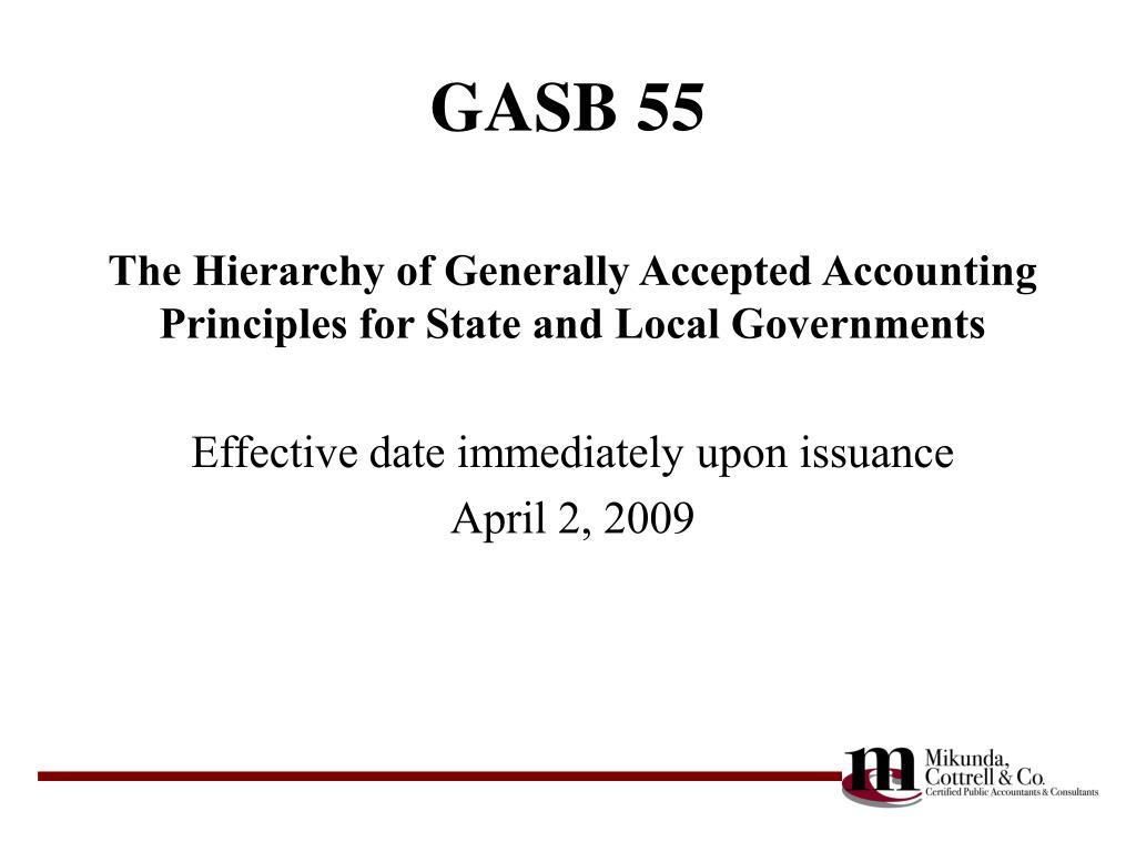 GASB 55