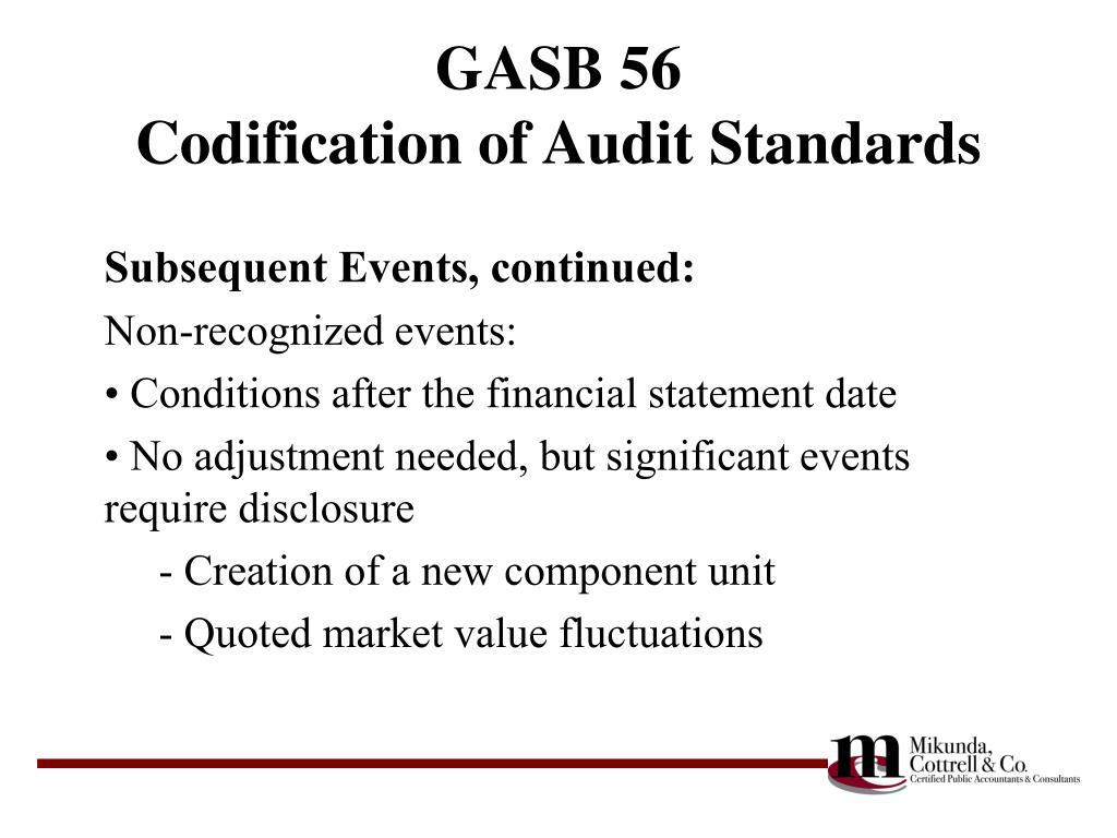 GASB 56