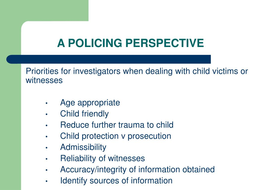 A POLICING PERSPECTIVE