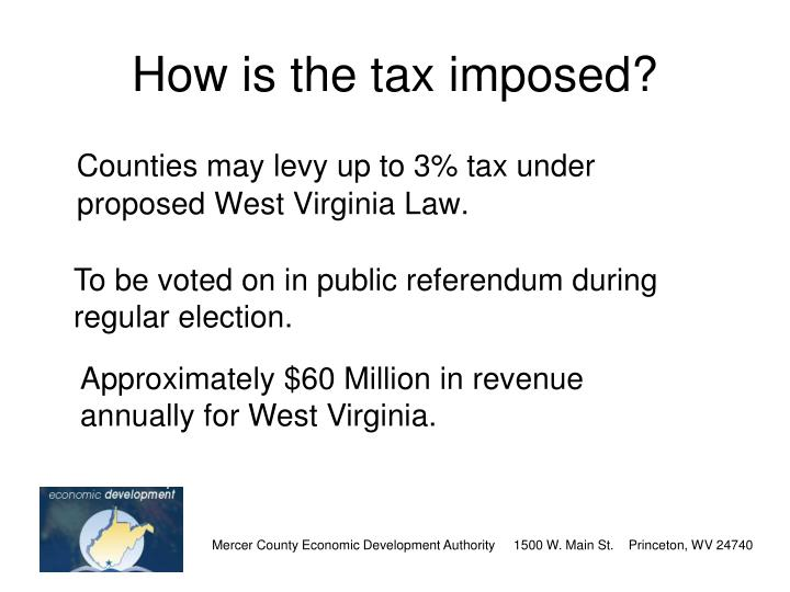 How is the tax imposed?