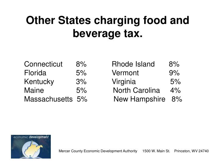 Other States charging food and beverage tax.