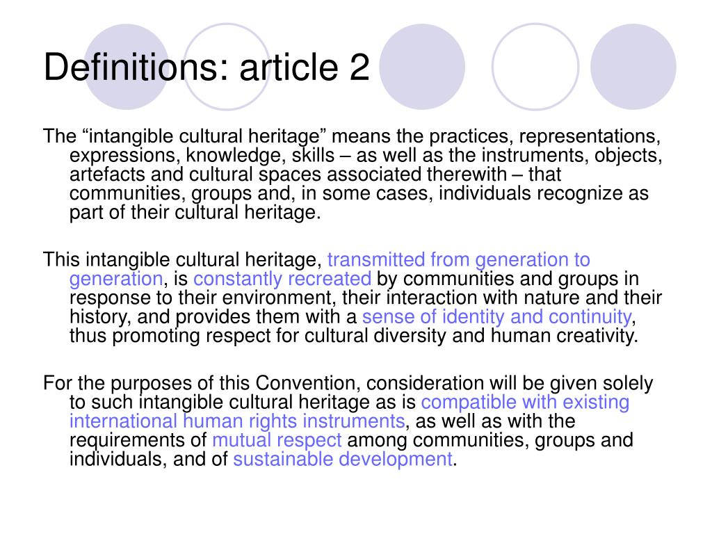 Definitions: article 2