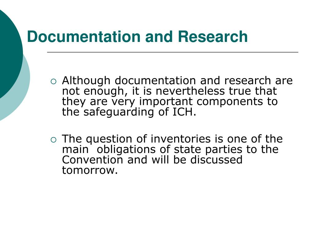Documentation and Research