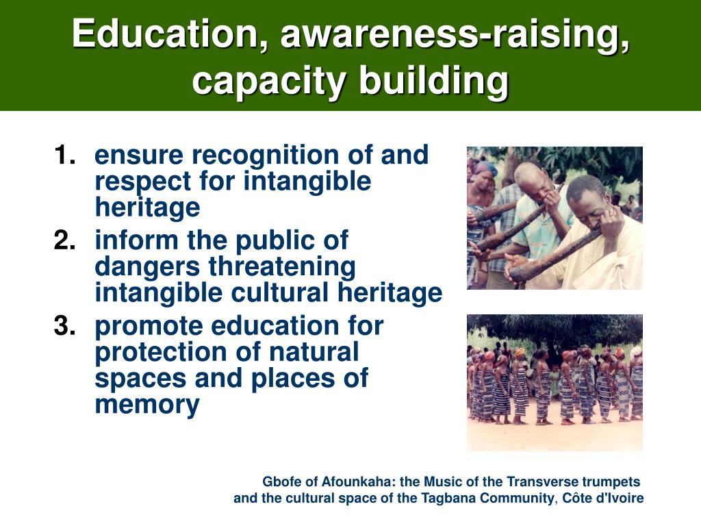 Education, awareness-raising,