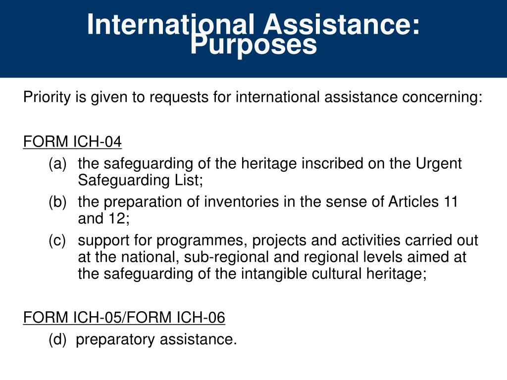 International Assistance: