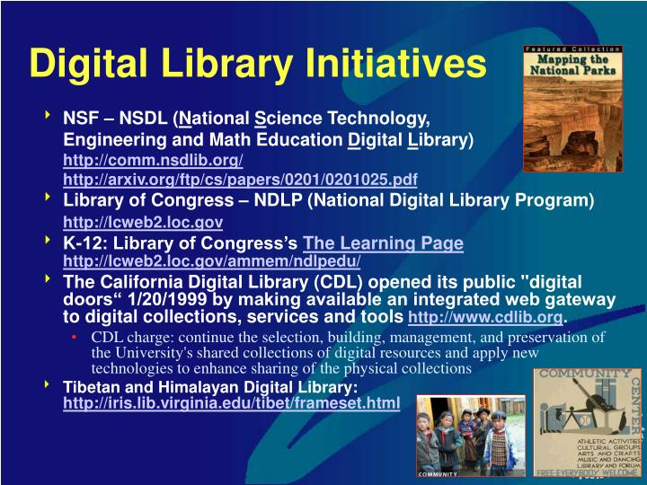 Digital Library Initiatives