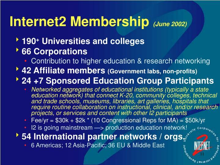 Internet2 Membership