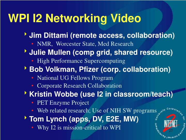 WPI I2 Networking Video