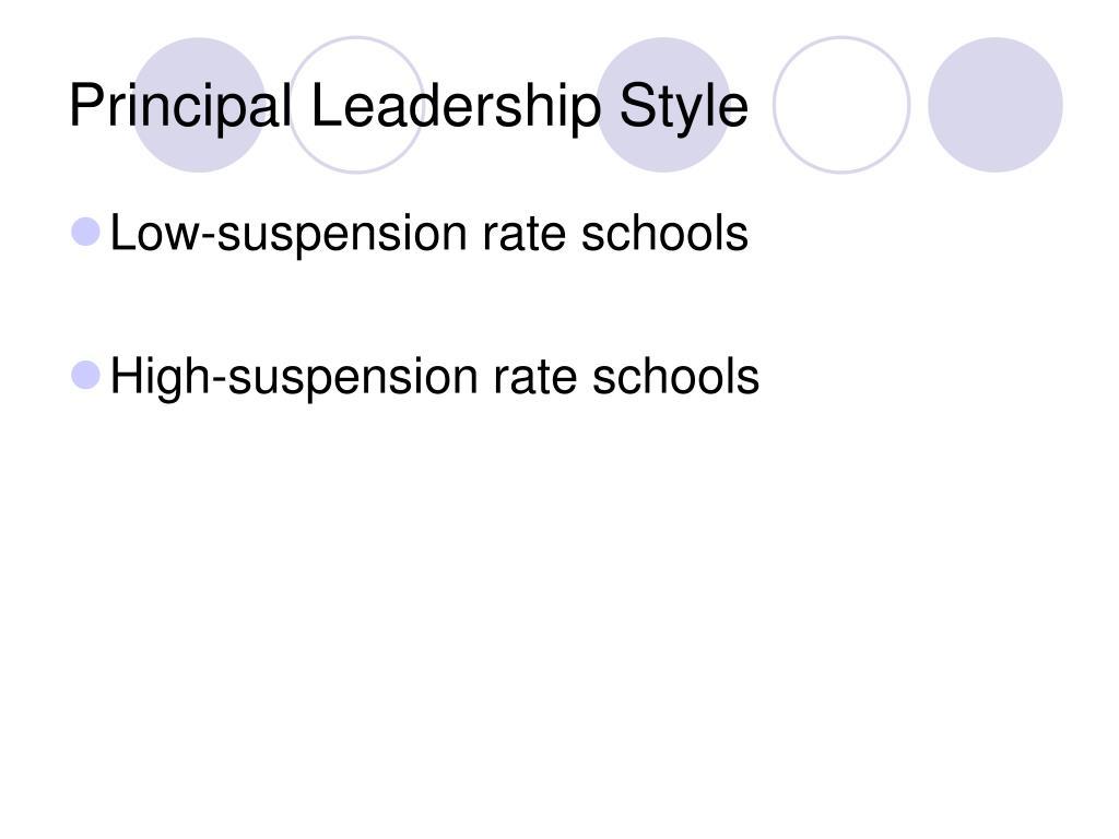 Principal Leadership Style