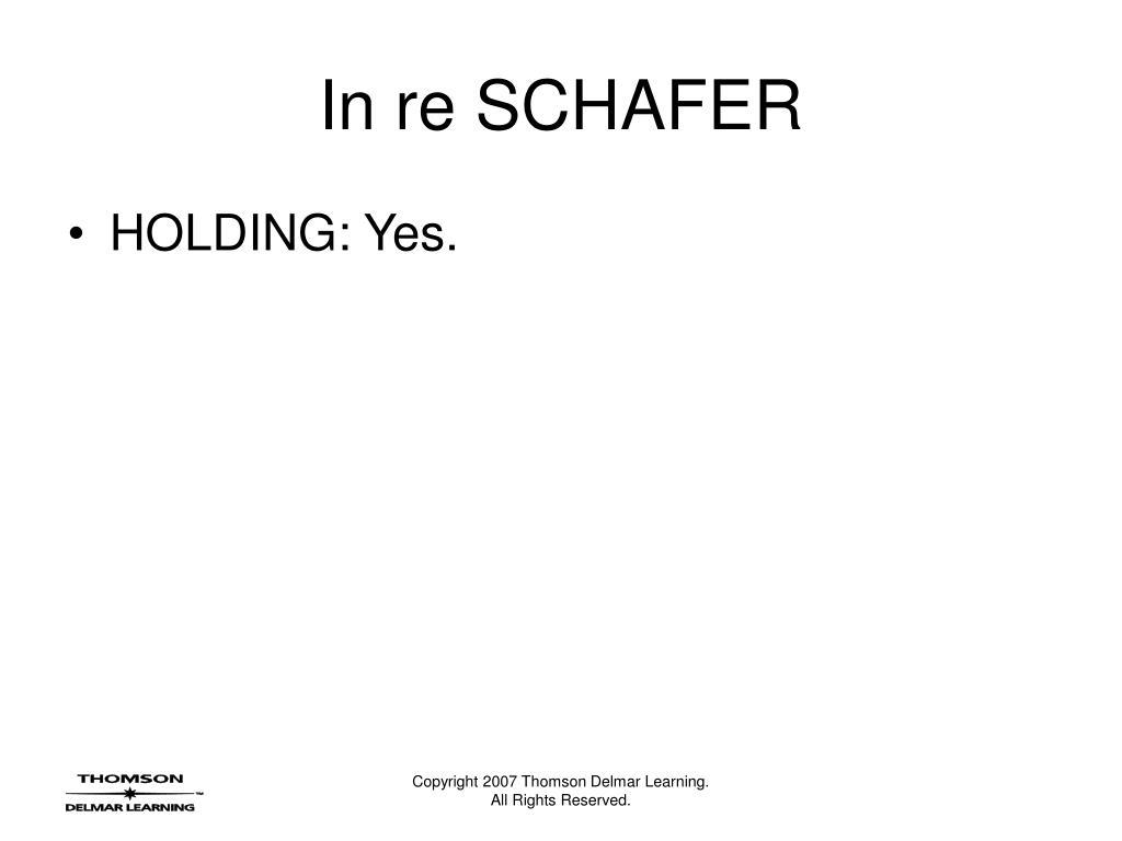 In re SCHAFER