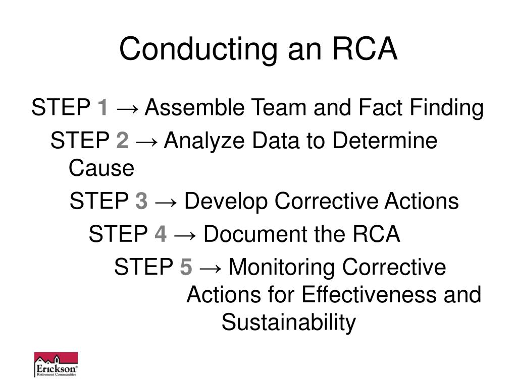 Conducting an RCA