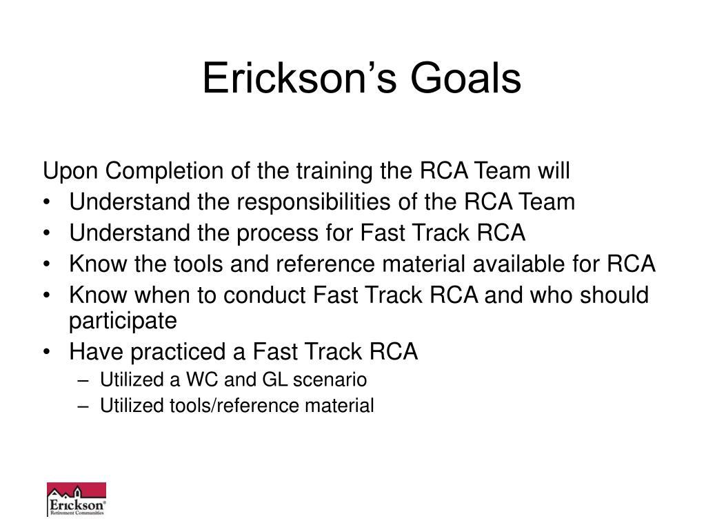 Erickson's Goals