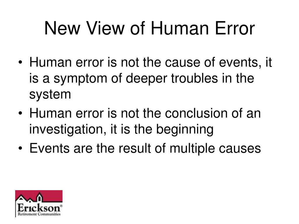 New View of Human Error