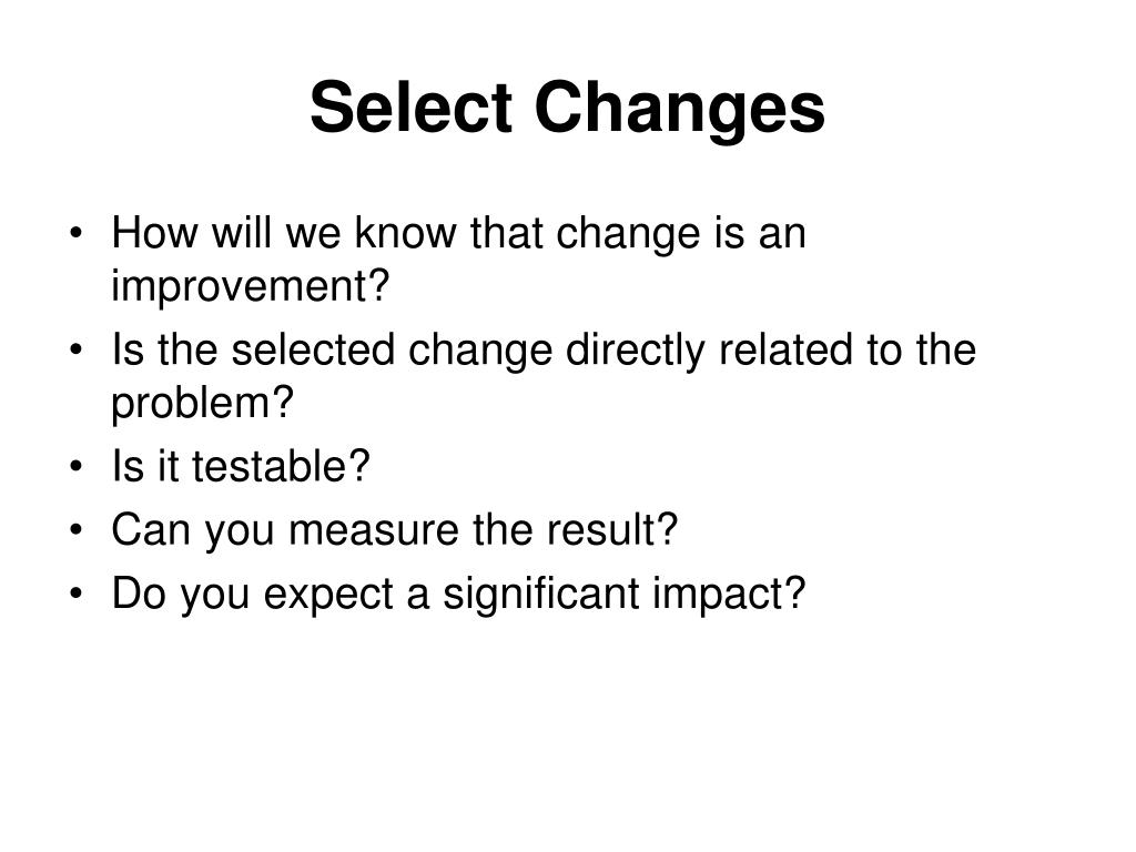 Select Changes