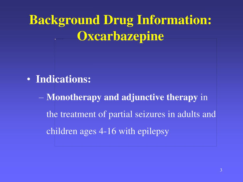 Background Drug Information: