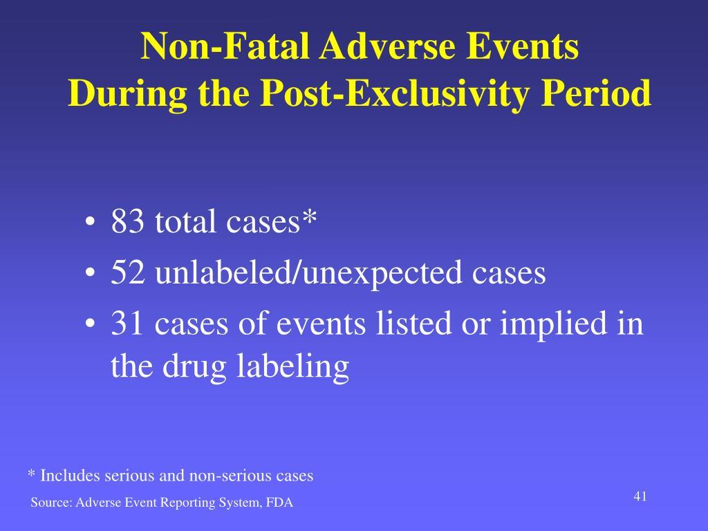 Non-Fatal Adverse Events