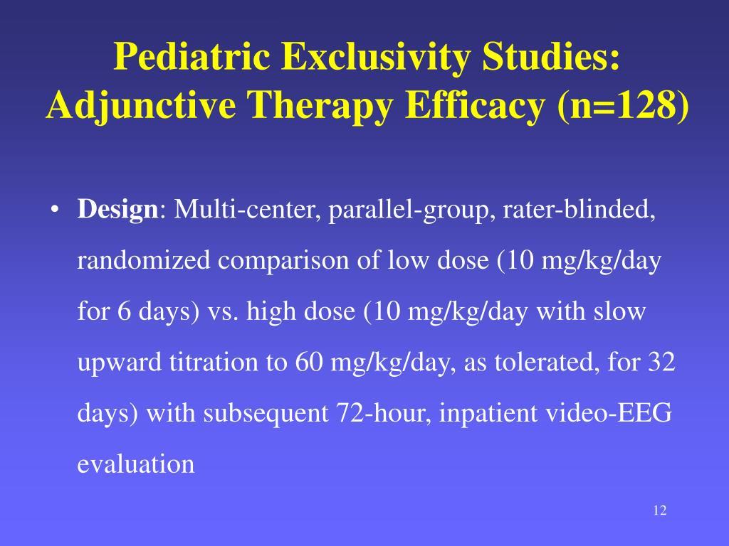Pediatric Exclusivity Studies: