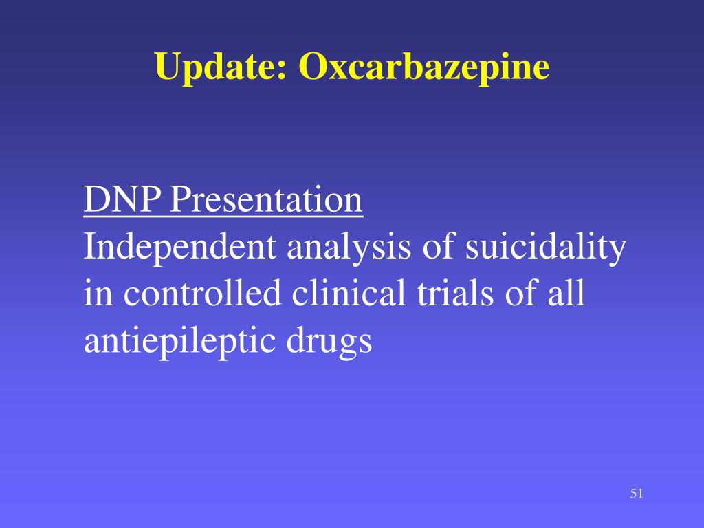 Update: Oxcarbazepine