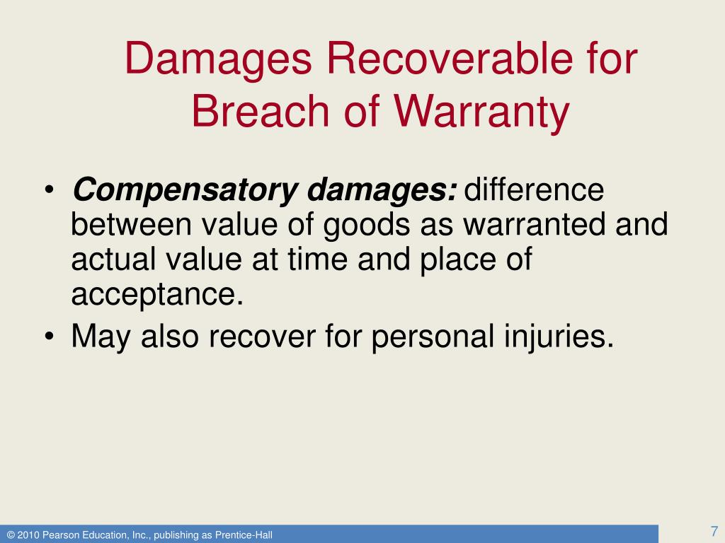 Damages Recoverable for