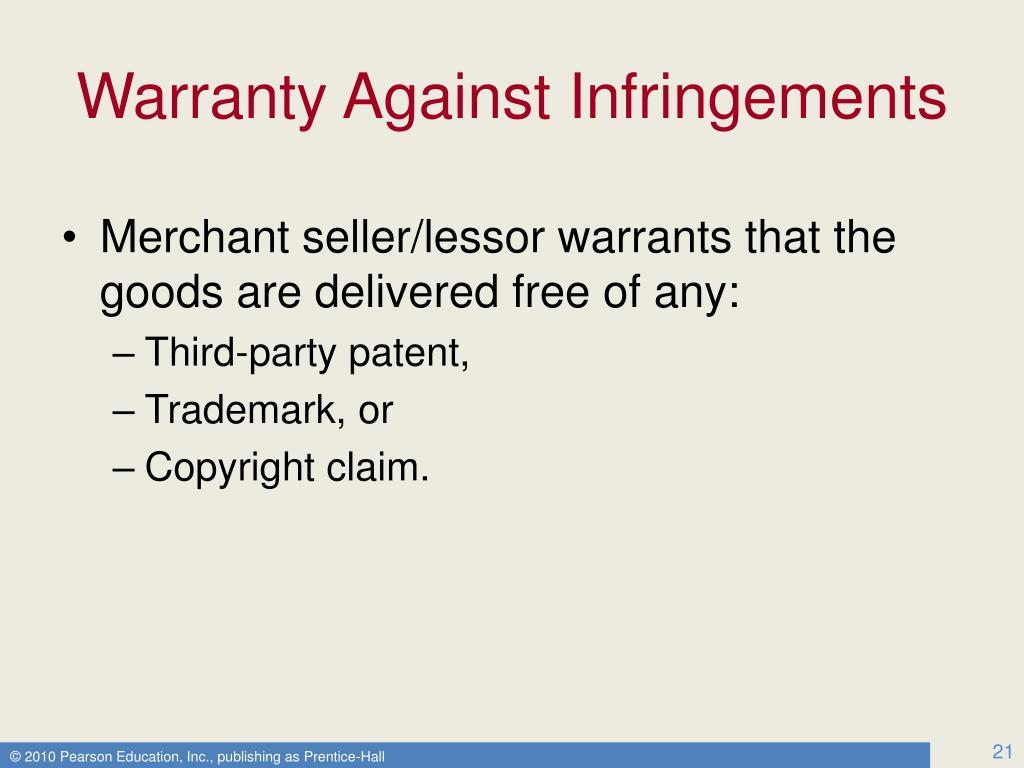 Warranty Against Infringements