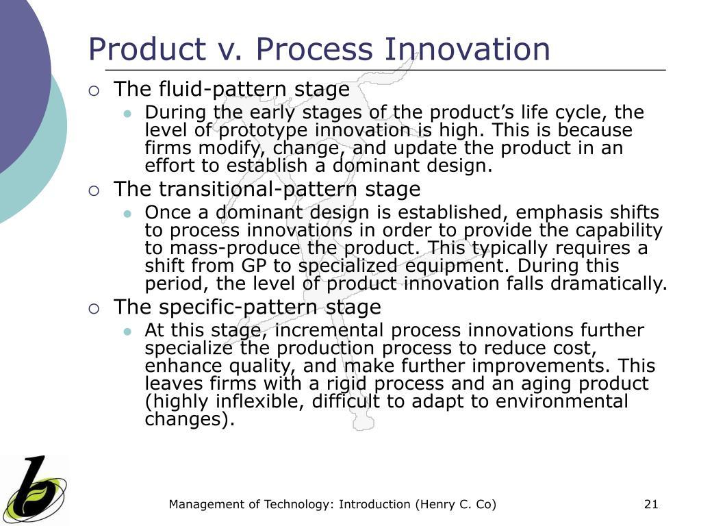 Product v. Process Innovation