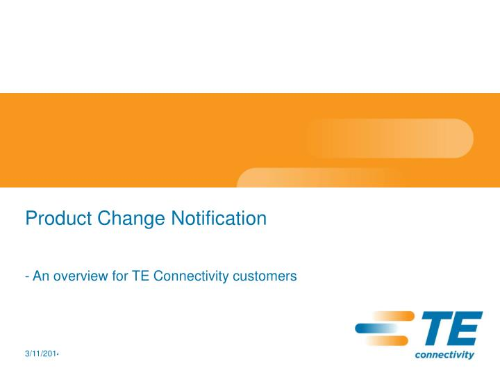 Product change notification