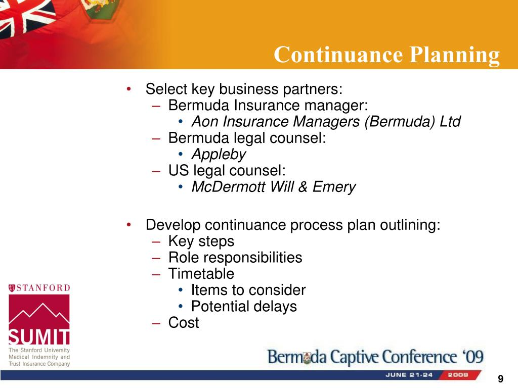 Continuance Planning