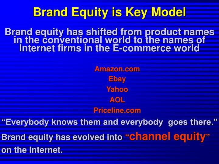 Brand Equity is Key Model