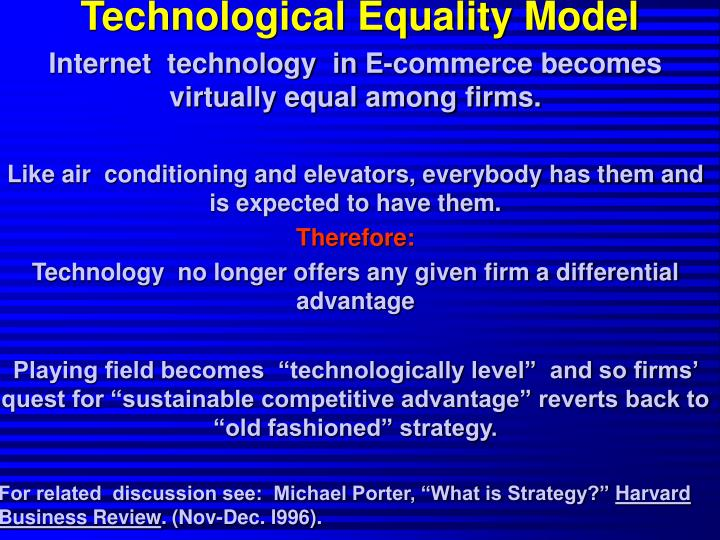 Technological Equality Model