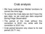 crab analysis