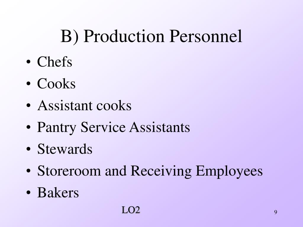 B) Production Personnel