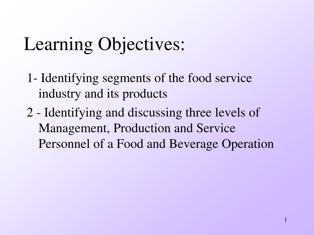 Learning Objectives:
