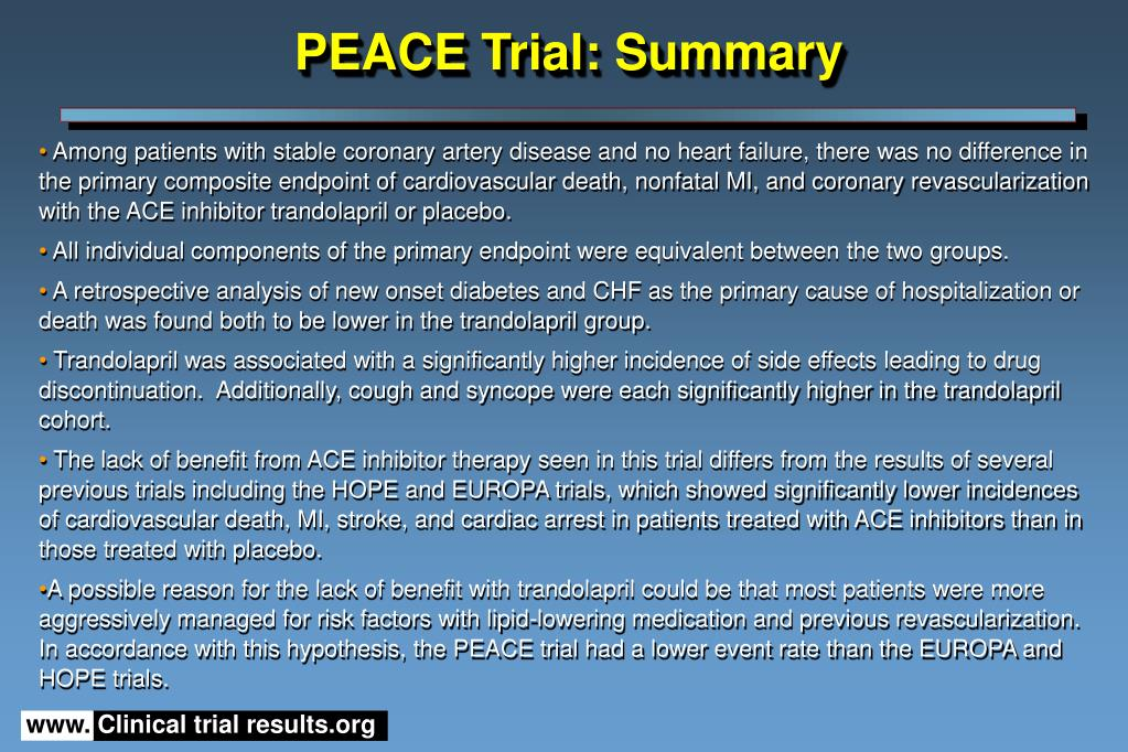 PEACE Trial: Summary