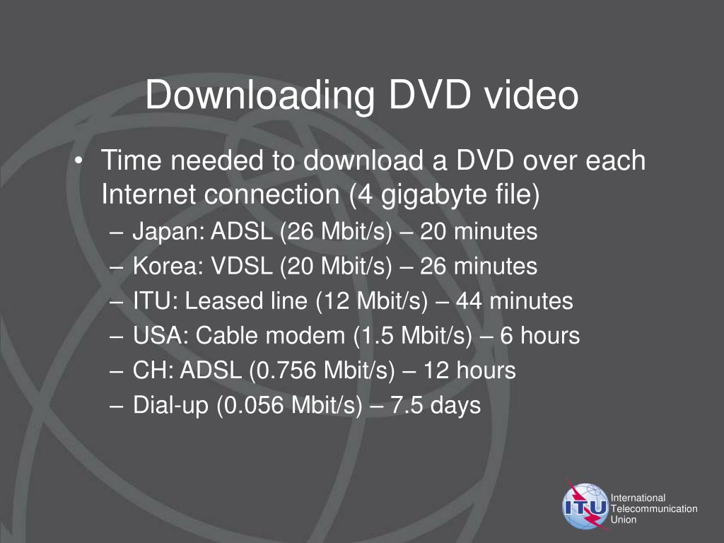 Downloading DVD video