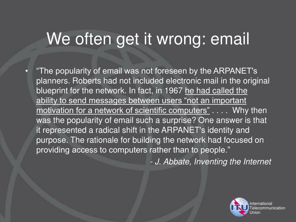 We often get it wrong: email