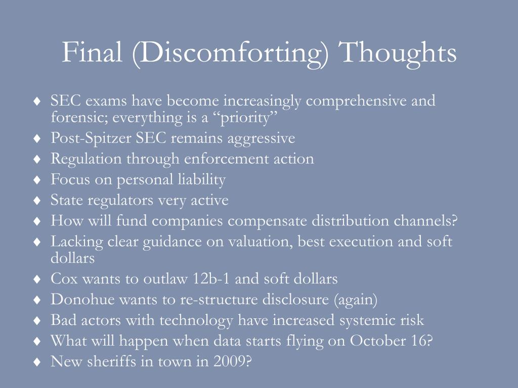 Final (Discomforting) Thoughts